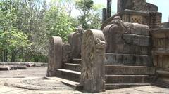 Vatadage in Polonnaruwa, Sri Lanka Stock Footage