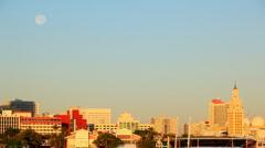 Moon over Miami Stock Footage