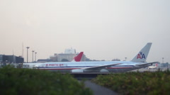 Airplane in Tokyo HD Stock Footage