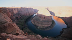 Horseshoe Bend in Colorado River Arizona  Stock Footage
