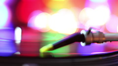 Turntables needle dj record player Stock Footage