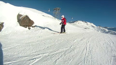 Skiing in the french Alps - stock footage