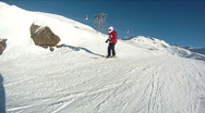 Skiing in the french Alps Stock Footage