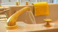Static luxury spa bathroom Stock Footage