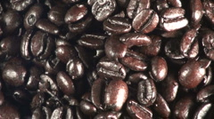 Coffee Beans pull Stock Footage