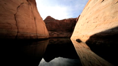 Canyons & Reflections of Lake Powell Arizona Stock Footage
