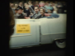 Richard Nixon waving in parade Stock Footage