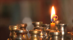 Church candle Stock Footage