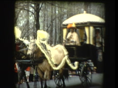 Royal Horse & Carraige in parade Stock Footage