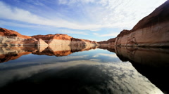 Layered Rock Colors of Lake Powell USA Stock Footage