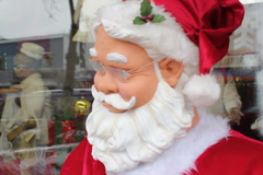 Dancing robot Santa. Head closeup. SD. Stock Footage