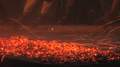 Traditional Kandy fire walkers/dancers Stock Footage