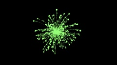 Green Firework Explosion on transparent background - stock footage