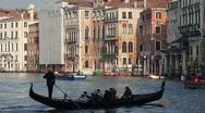Gondola in Venice Stock Footage