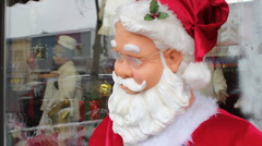 Dancing robot Santa. Head closeup. Stock Footage