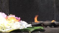 Diya (light) at The Temple of the Tooth, Kandy, Sri Lanka Stock Footage