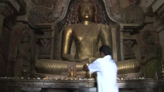 Praying man, Sri Lanka Stock Footage