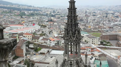 The Basilica del Voto Nacional, Quito, Ecuador Stock Footage