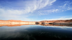 Arid Environment of Lake Powell, Arizona Stock Footage