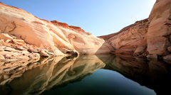 Stock Video Footage of Mirror Reflections of Lake Powell, Arizona