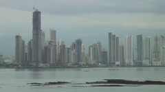 Panama: City towers shot from old quarter Stock Footage