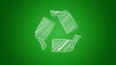 Scribbled recycle symbol Stock Footage