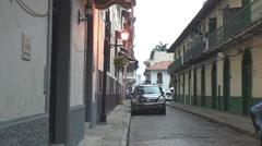 Panama: Street scene Casco Viejo Stock Footage