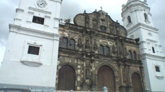 Panama: architecture of Casco Viejo - stock footage
