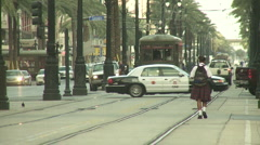 New Orleans walk Stock Footage