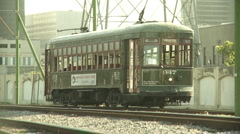 New Orleans Streetcar (leaving) Stock Footage