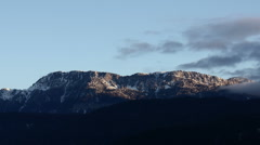mountains in winter - stock footage