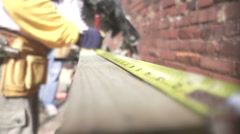 Measuring Tape extended Stock Footage