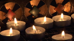 Candles&Reflexes - stock footage