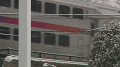 Train under a snow storm-Liberta0040 Stock Footage