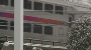 Stock Video Footage of Train under a snow storm-Liberta0040