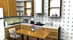 Basic Kitchen 1080P Stock Footage