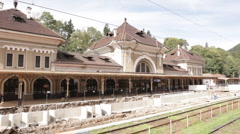 Reconstruction of railway in Romania Stock Footage