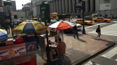 Hot Dog stand in New York - stock footage