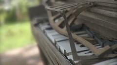 Abandoned Broken Piano - 2 Stock Footage