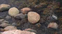 Water&stones1 Stock Footage