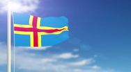 Stock Video Footage of Flag of Aland Islands