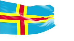 Flag of Aland Islands Stock Footage