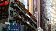 Stock Video Footage of Stock Quotes at Times Square, New York