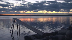 Sunset lake wide4 Stock Footage
