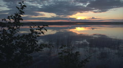 Sunset lake wide6 Stock Footage