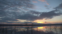 Sunset lake wide8 Stock Footage