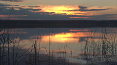Sunset lake wide9 Stock Footage