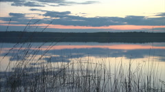 Sunset lake timelapse Stock Footage