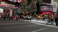 Stock Video Footage of Busy intersection in New York