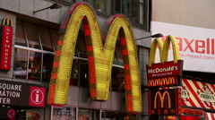 Mac Donalds at Times Square, New York Stock Footage